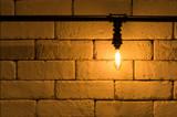 light on white brickwork for background