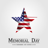 Happy Memorial Day, Star and Flag USA - 150000879