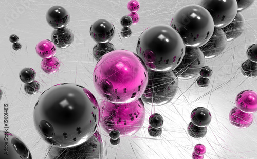 Fotobehang Abstractie Abstrakcyjne kule