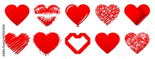 Ustaw 10 ikon czerwonych serc