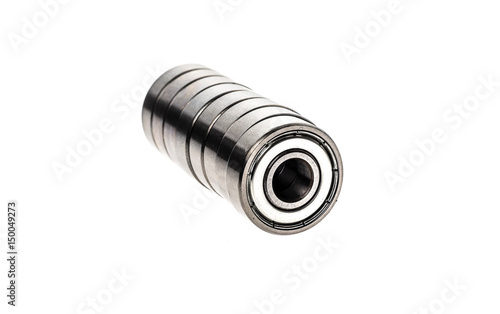 New replacement Roller Skate Bearings isolated on white background. - 150049273