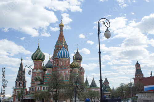 Poster St. Basil's Cathedral against the blue sky