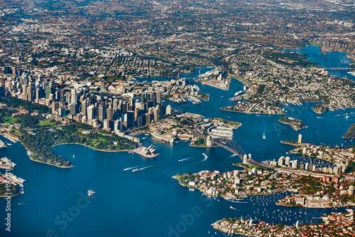 Papiers peints Sydney Aerial panoramic view of Sydney skyline, Australia