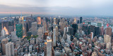 NEW YORK CITY - JUNE 2013: Panoramic view of Manhattan, aerial view. New York attracts 50 million tourists every year