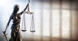 Lady Justice And Prison - Penal Justice Concept