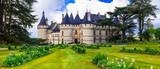 Fairytale Chaumont-sur -Loire castle. Loire valley, France - 150121070