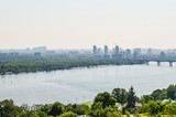 Aerial view of Kiev, Ukraine and Dnieper river