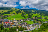 Fototapety aerial view of Saalbach village in Austria.