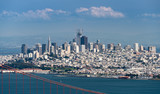 Telephoto image of the Golden Gate Bridge and San Francisco