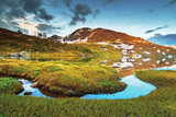 Norway landscape, national park Hardangervidda, lake Mosdalsvatnet.