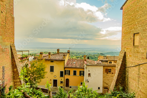 View of the city of montepulciano in the province of siena toscana italia, famou Poster