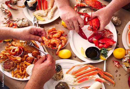Fototapeta Seafood Smorgasbord