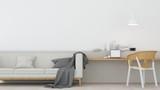 The interior minimal relax space room in condominium and background decoration  furniture  -3D Rendering