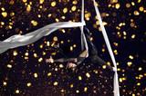 Young woman circus air gymnast - 150363229