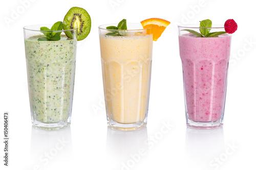 Fotobehang Milkshake Set of milkshake