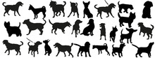 A  Of Dog Silhouettes Sticker