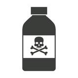 bottle poison chemical danger skull bone vector illustration - 150432813