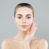 Spa Portrait of Healthy Model Woman with Fresh Skin. Facial Treatment, Aesthetic Medicine and Cosmetology