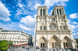 Scenic morning view of the Cathedral of Notre Dame in Paris, France