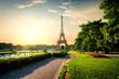 Tower near park in Paris