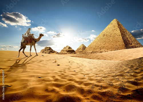 In sands of Egypt