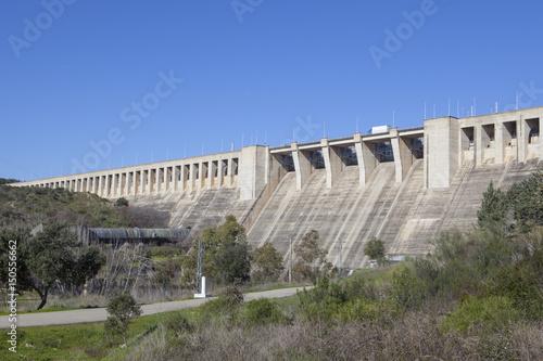 Plakat Gabriel y Galan reservoir, Caceres, Spain