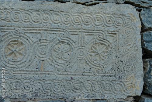 Poster eski işlenmiş bir taş örneği