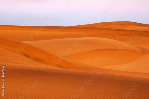 Foto op Canvas Baksteen View over the Dunes of the impressive Namib Desert near Swakopmund