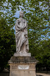 Ancient statues in Luxembourg Garden. Paris. France.