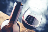 red wine glass and bottle -  fine wine tasting  concept - 150670210