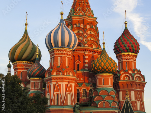 Saint Basil's Cathedral in Red Square in Moscow Russia Poster