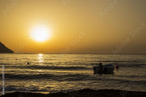 Poster Amanecer en la playa Cabo de Gata
