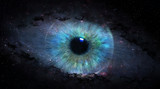 Fototapety open eye in space