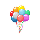 Colorful party balloons vector isolated - 150779211