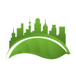 Green city environment icon vector illustration graphic design - 150789216