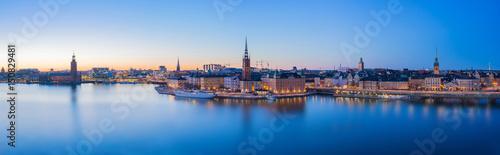 Plexiglas Stockholm Panorama view of Stockholm skyline in Stockholm city, Sweden