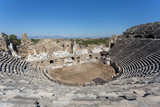 Amphitheater of ancient Side in Turkey - 150860647