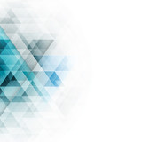 Abstract blue triangles geometric background. Vector illustration.