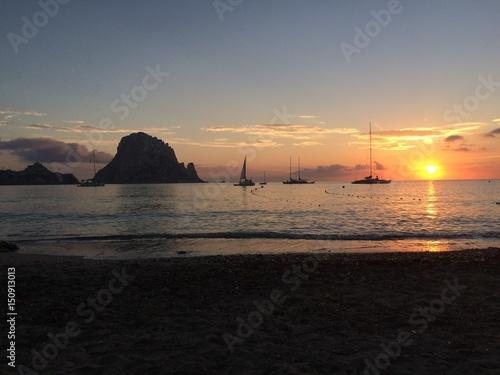 Papiers peints Morning Glory Cala hort Ibiza atardecer