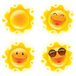 Collection of summer sun. A variety of sun character for summer design. - 150914230