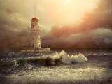 Lighthouse on the sea under sky - 150920857