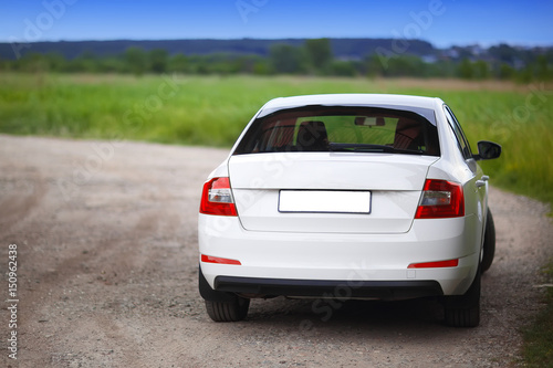 Rear-side view of a car - 150962438