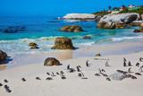 The sandy beach on the Atlantic