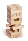 Wood blocks stack game, background concept - 151010631