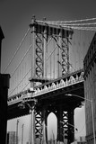 Brooklyn bridge in New York in black and white