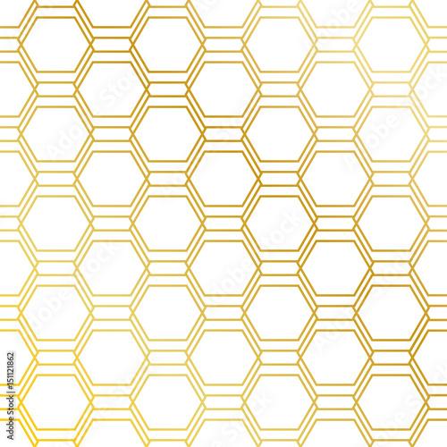 Fototapeta Golden seamless pattern background