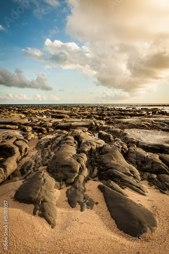 Rocky beach at tip of Borneo