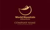 world mountain vector logo