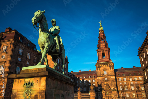 Equestrian statue of King Christian the 9th Copenhagen Denmark Poster