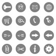 internet icons set - website buttons vector
